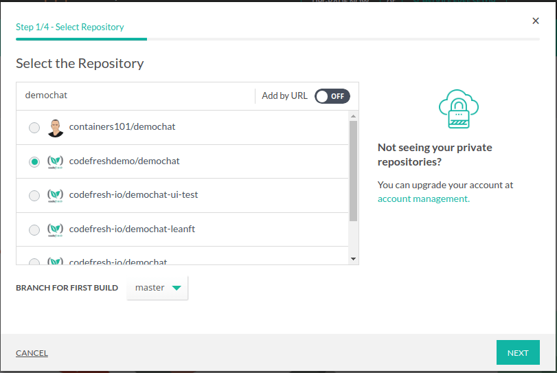 Select the relevant repository
