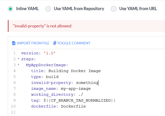 Graphical Inline Yaml Editor