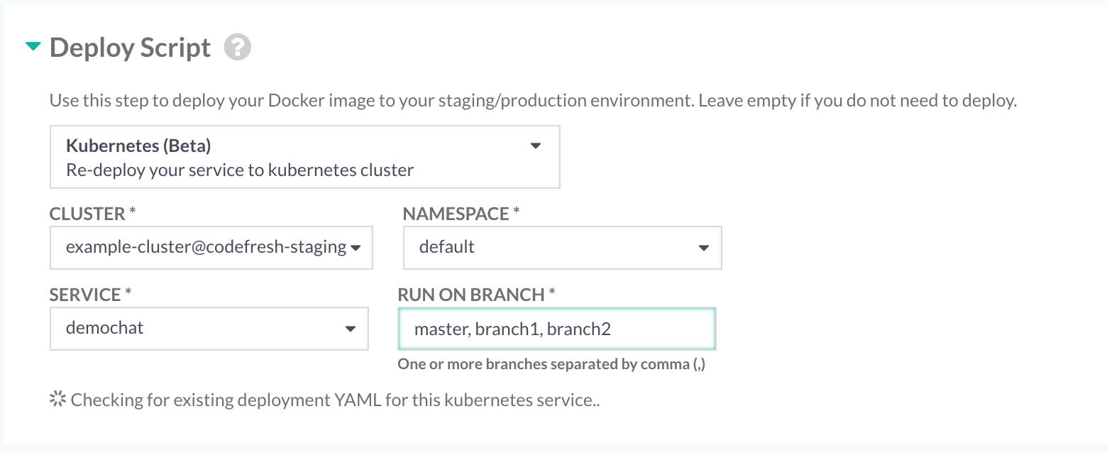 Manage your Kubernetes cluster in Codefresh · Codefresh   Docs