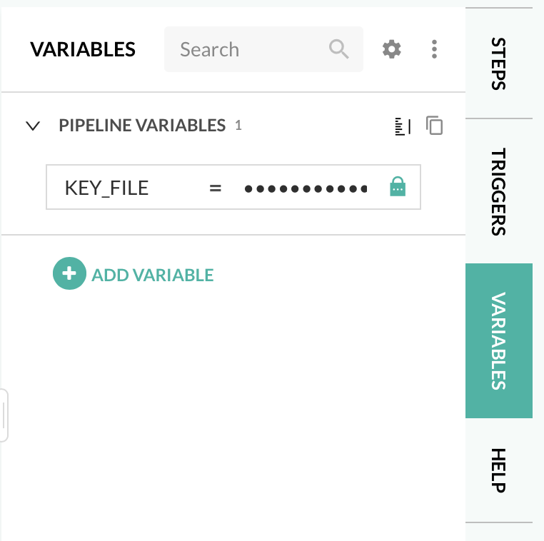 Codefresh UI Pipeline Variables