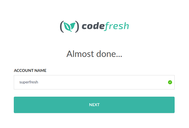 Codefresh account name