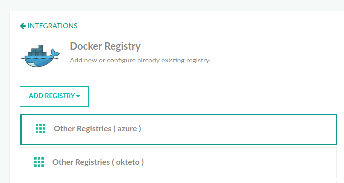 Connecting a Docker registry to Codefresh