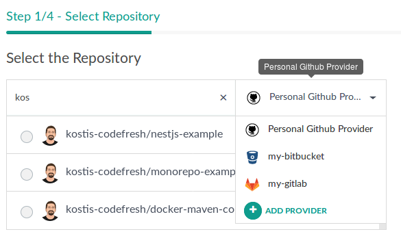 Git providers · Codefresh   Docs