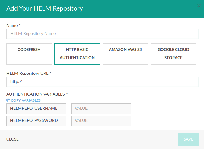 Helm Charts and repositories · Codefresh | Docs