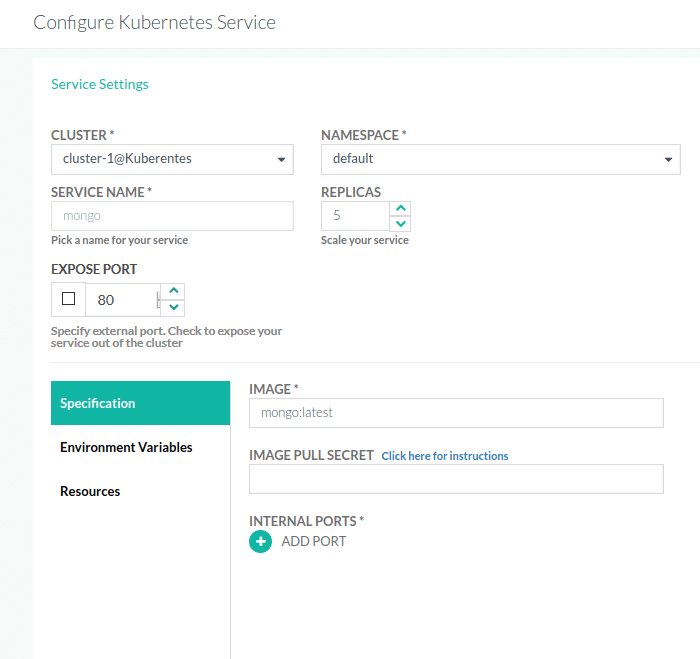 Example - Deploy demochat to Kubernetes cluster · Codefresh