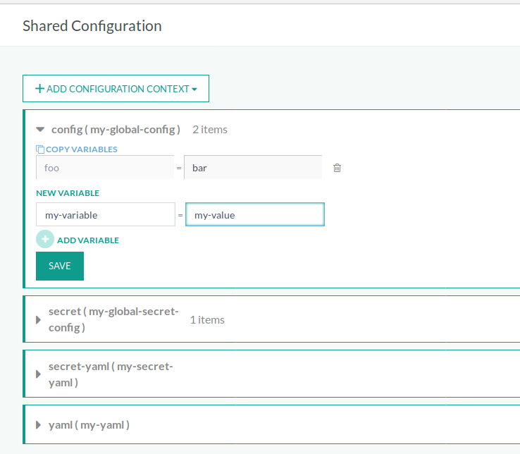 Creating shared configuration snippets