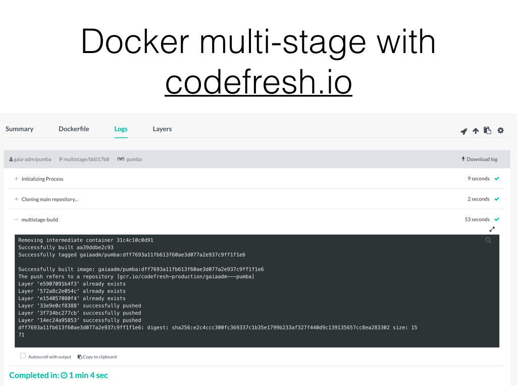 Webinar: Using Docker Multi-stage Build to Create Advanced Pipelines