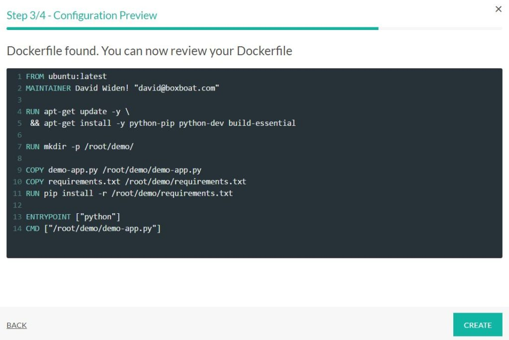 codefresh docker native cicd preview dockerfile