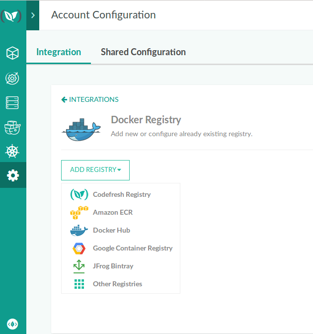 Adding a Docker Registry