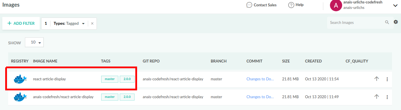 Codefresh Images